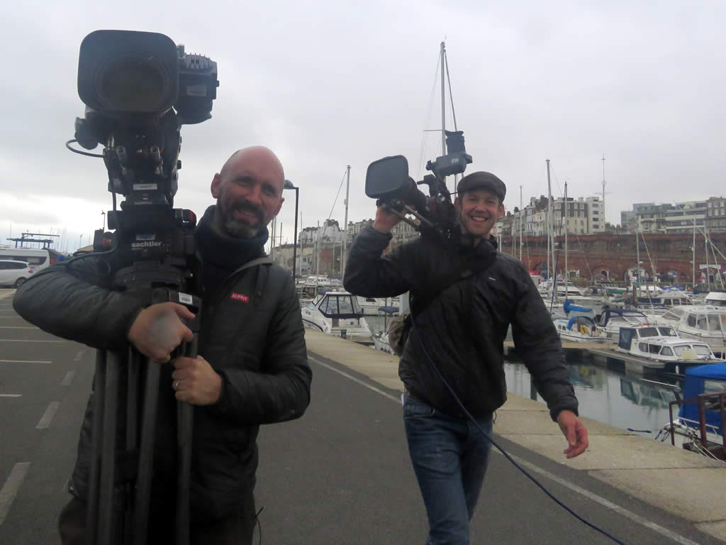 BBC the One Show in Ramsgate Harbour