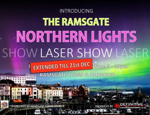 Northern Lights Laser Show on till 21st Dec