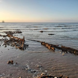 Pier remnant by Photo by Sean Clarke